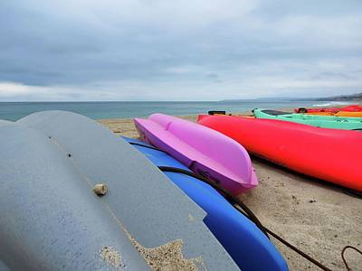San Clemente Ca Photograph - Kayaks by Connor Beekman