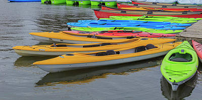 Photograph - Kayaks by Josef Pittner