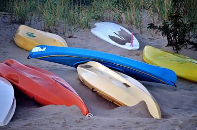 Photograph - Beached Kayaks by Kim Bemis