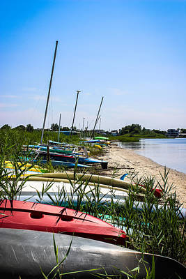 Photograph - Kayaks On Lbi by Colleen Kammerer