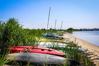 Photograph - Kayaks On The Beach by Colleen Kammerer