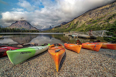 Photograph - Kayaks by Peter Tellone