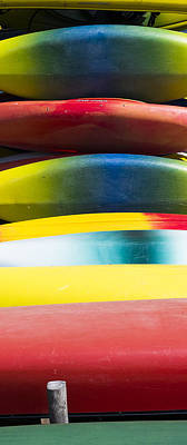 Photograph - Kayaks Stacked At Lake Wingra - Madison - Wisconsin by Steven Ralser