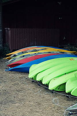 Photograph - Kayaks To Rent by Laurie Perry