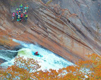 Photograph - Kayaking The Gorge by Susan Leggett
