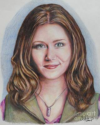 Drawing - Kaylee / Jewel Staite by Christine Jepsen