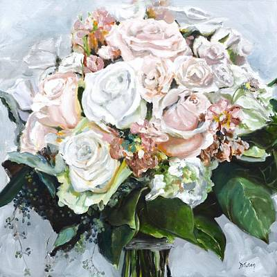 Painting - Kayleigh's Bridal Bouquet by Donna Tuten