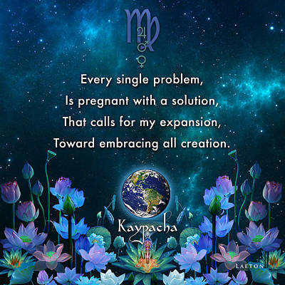 Kaypacha's Mantra 10.28.2015 Art Print by Richard Laeton