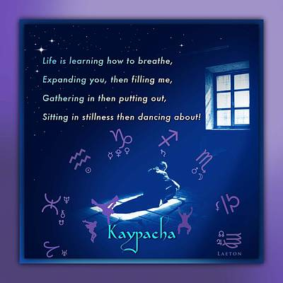 Shadow Dancing Mixed Media - Kaypacha's Mantra 1.29.2016 by Richard Laeton