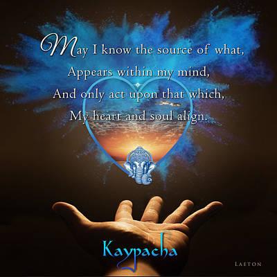 Separation Mixed Media - Kaypacha's Mantra 2.24.2016 by Richard Laeton