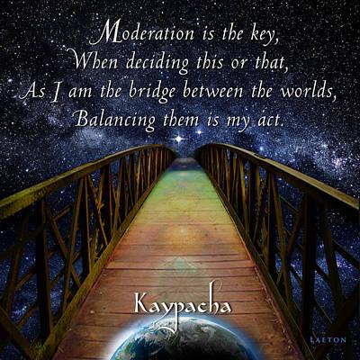 Moral Mixed Media - Kaypacha's Mantra 3.16.2016 by Richard Laeton