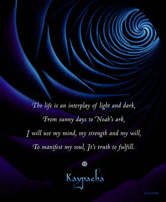 Kaypacha's Mantra 4.28.2015 Art Print by Richard Laeton