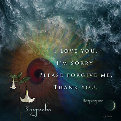 Kaypacha's Mantra 7.15.2015 Art Print by Richard Laeton