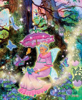 Blueberry Mixed Media - Kayrissa Twinkle, Eldeera by Teresa Ascone