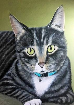 Wall Art - Painting - Kay's Cat by Carol Iyer
