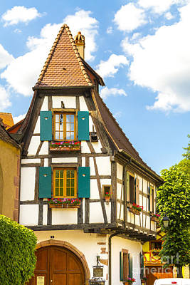 Half-timbered Houses, Kaysersberg Alsace France Art Print by Marco Arduino