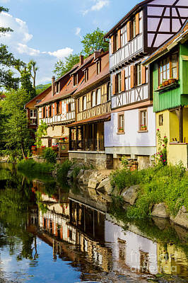 half-timbered house, Kaysersberg, Alsace, France Art Print by Marco Arduino