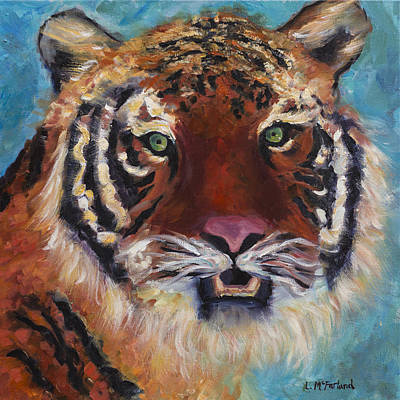Southeast Asia Painting - Kazek The Tiger-children's Collection by Laurel McFarland