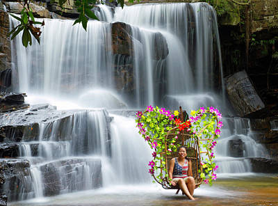 Photograph - Kbal Chhay Waterfall  by David Freuthal