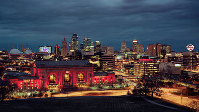 Photograph - Kc Chiefs Skyline by Ryan Heffron