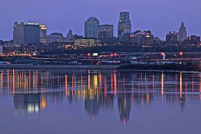 Photograph - Kc Night View From Kaw Point by Frozen in Time Fine Art Photography
