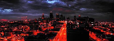Digital Art - Kc Nightime by Dave Luebbert