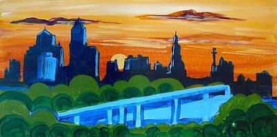 Kc Skyline At Sunset Art Print