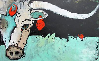 Painting - Kcr Longhorn 1937 by Nicole Gaitan