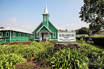 Photograph - Ke Ola Mau Loa Church by Scott Pellegrin