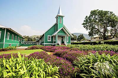 Photograph - Ke Ola Mau Loa Church Waimea Hawaii by Scott Pellegrin