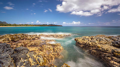 Seascape Photograph - Kealia Reef Kauai by Pierre Leclerc Photography
