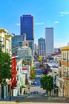 Photograph - Keanry Street Slope San Francisco by David Zanzinger