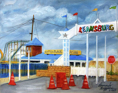 Painting - Keansburg Amusement Park by Leonardo Ruggieri