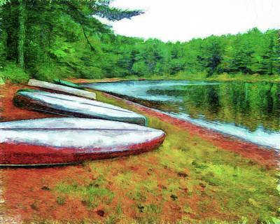 Digital Art - Kearney Lake Beach by Leslie Montgomery