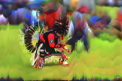 Photograph - Kearsarge Pow Wow Dancer by Wayne King
