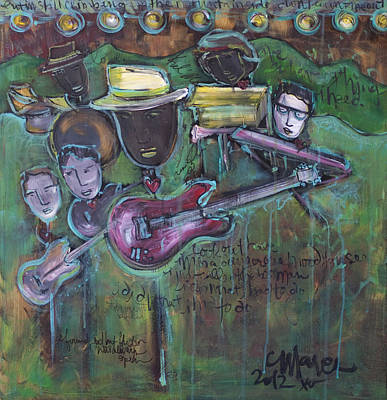 Painting - Keb' Mo' Live by Laurie Maves ART