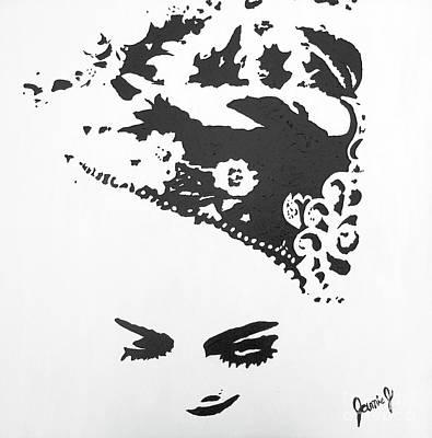 Painting - Kebaya Headpiece by Jamie Johnson