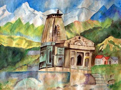 Kedarnath Temple Original by Dipali Deshpande