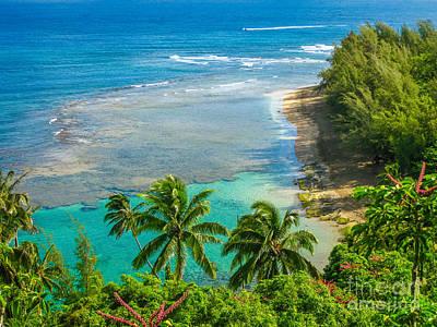 Kee Beach Kauai Art Print