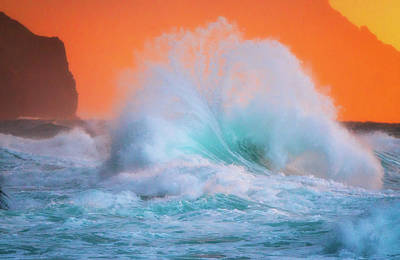Photograph - Ke'e Fan Wave by Ryan Moyer