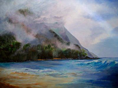 Mist Painting - Ke'e Kakahiaka by Susan M Fleischer