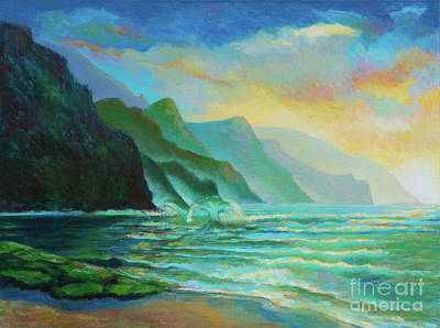 Painting - Ke'e Wave by Isa Maria