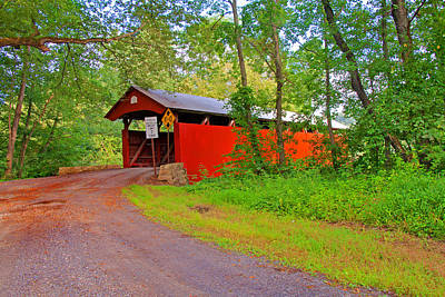 Photograph - Keefer Station Covered Bridge by Michael Porchik