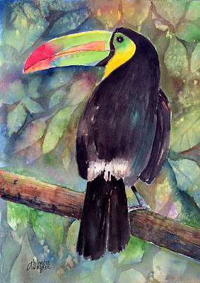 Toucan Painting - Keel-billed Toucan by Arline Wagner