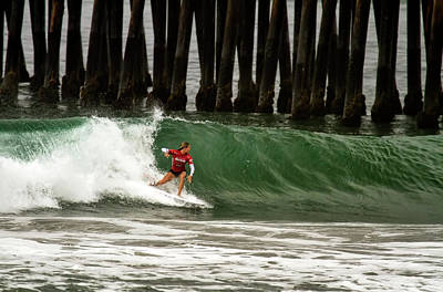Photograph - Keely Andrew Surfing by Waterdancer