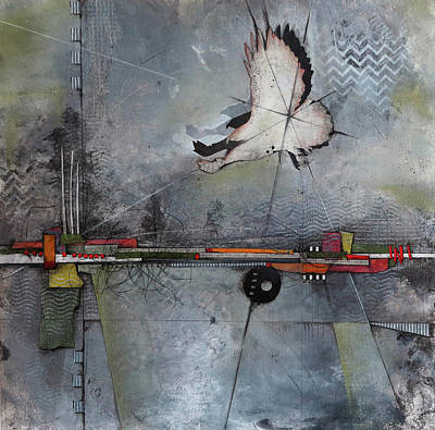 Hawk Mixed Media - Keen Eye by Laura Lein-Svencner