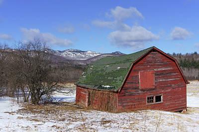 Photograph - Keene Barn by Brad Wenskoski