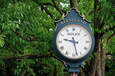Photograph - Keeneland Clock by Jill Lang