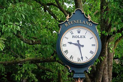 Kentucky Photograph - Keeneland Clock by Jill Lang