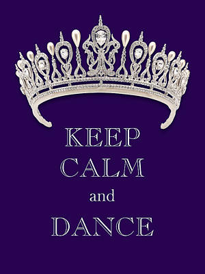 Vintage Ford - Keep Calm and Dance Diamond Tiara Deep Purple by Kathy Anselmo